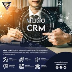 Viltco CRM plays a major role in the success of your company. It allows salespeople to get a view of entire customer information in one place. It allows you to manage your opportunities, leads, phone calls, meeting schedules along with other important business functions like communication with customers, notification, prioritization, and quick resolution of issues. You can access it anywhere over the internet, hence you can keep track of your customers and clients quickly, within a few… Customer Relationship Management, Software Development, Plays, Communication, Track, Success, Internet, How To Get, Technology