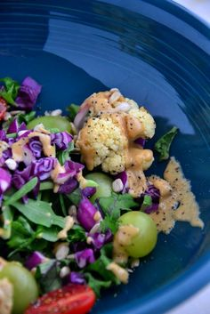 This Detox Salad with Kale and Cauliflower is the ideal way to jump start any detox. It's loaded with flavor, fiber and antioxidants to detoxify your body.