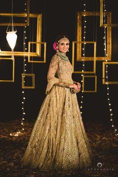 Sangeet Lehengas - Gold heavy lehenga #wedmegood #lehenga #gold