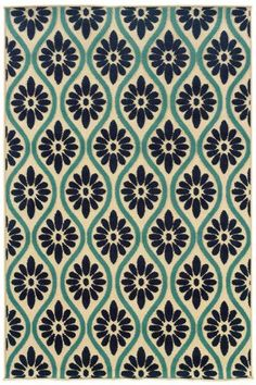 Alue patterned rug adds visual interest and tranquility. #HDCrugs HomeDecorators.com