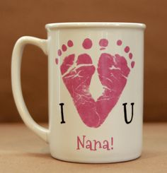I Love You Footprint Mug 1300_mug by MyForeverPrints on Etsy