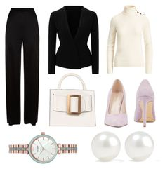 """""""business power"""" by vanyflores on Polyvore featuring moda, Temperley London, Roland Mouret, Ralph Lauren Collection, Nine West, Kate Spade y Kenneth Jay Lane"""