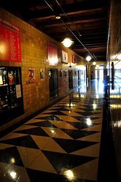 OB Laing Middle School main hallway, Algona