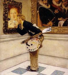 Norman Rockwell: The Art Critic, 1955