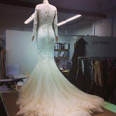 "@myweddingconcierge's photo: ""One of my favorite @zac_posen #weddings #gowns ever! #atelier #flashbacks @josephinedelabaume #winterbride #love #laceonlace #zacposen #myweddingconcierge"""