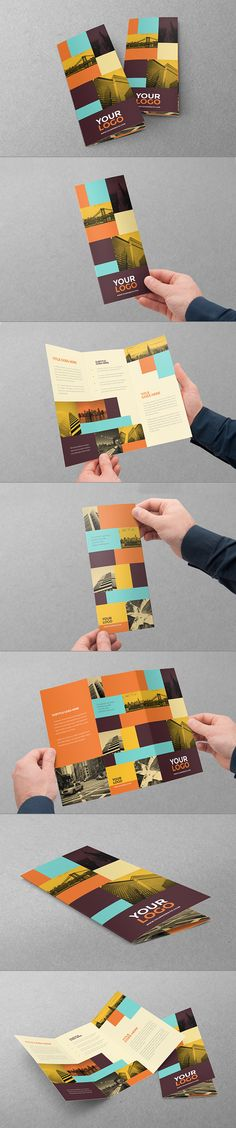 Cool Vintage Hipster Trifold. Download here: http://graphicriver.net/item/cool-vintage-hipster-trifold/10841893?ref=abradesign #trifold #brochure #design