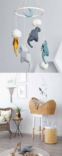 Dragon Mobile is an adorable piece of art, it'll surely become a perfect design item in your baby's room. It's also a unique Baby Shower Gift. You can choose any color according to your room style. #babyshowergift #babymobile #affiliate