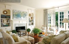 Design homeowner Elizabeth Elsey, Photograph Mali Azima from Atlanta Homes & Lifestyles. #livingroom