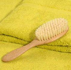 brosse à cheveux enfant hêtre ciré, soies sanglier