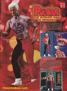 Pulsar The Ultimate Man of Adventure by Mattel , 1978 - I have one of these still that works.  Amazing toy when I found it when I was young. I don't have his awesome jump suit top sadly.