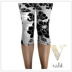 This style is Martina,  plus-size butter-soft Capri Leggings |  I wear a size 8-10 and order plus size because I like my leggings to be looser.  They are comfortable but not baggy at all!  Plenty of stretch, though, for actual plus size.  Buy some Vahl buttery leggings!  You won't regret it!  #vahlinlove  |  See more fab fashion at https://thevahl.com/?aff=575 | #butterysoft #butterleggings #leggingsarelife #leggingsarepants #buttermybuns #vahl #leggings