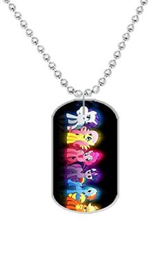 My Little Pony Custom Photo Oval Dog Tag Dimensions 12 x 2 X 01 inches with 30 Aluminum Bead Chain ** Check out this great product. (Note:Amazon affiliate link)