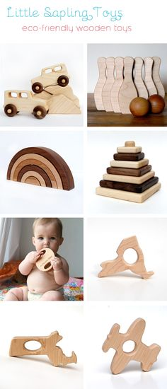 adorable eco-friendly wood toys #etsy