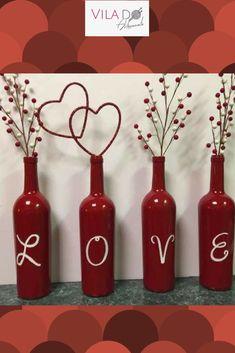 Diy Bottle, Wine Bottle Crafts, Bottle Art, Metal Bird Wall Art, Metal Wall Decor, Painted Wine Bottles, Lighted Wine Bottles, Wedding Bottles, Creative Crafts