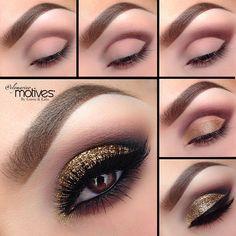 We love this gold glitter pictorial by #elymarino using #MotivesCosmetics!