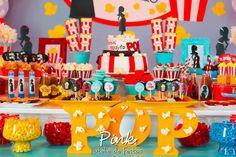 "Dessert Table from a ""Ready To Pop"" Baby Shower via Kara's Party Ideas | KarasPartyIdeas.com (3)"