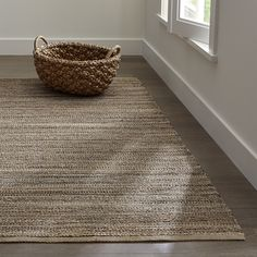 Jarvis Grey Jute-Blend 8'x10' Rug | Crate and Barrel