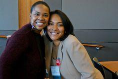 Veteran publicist, blogger & Web TV Host Karen Taylor Bass and NABJ Associate Member Representative Dawn Roberts