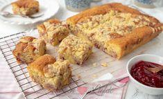 Kruimelcake met frambozenjam - Keuken♥Liefde A Food, Food And Drink, Biscuits, Sweet Tooth, Deserts, Muffin, Gem, Favorite Recipes, Sweets