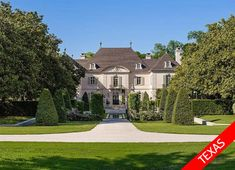 $100MILLION: This sprawling 25-acre estate in Dallas has its very own helipad as well as tennis courts. The stunning four-story mansion has 12 bathrooms and 11 fireplaces as well as a movie theater