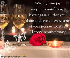 Wishing you joy on your beautiful day Happy Wedding Anniversary Quotes, Anniversary Wishes For Parents, Happy Anniversary Quotes, Anniversary Message, Anniversary Greetings, Anniversary Funny, Birthday Wishes Cards, Dad Poems, Messages