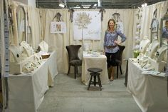 photos of antique fair booth outside | ... Dr. Trish Flynn of Kindred Stones looking stylish in the booth