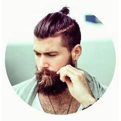 Beard&bun #wantmorewednesday #manbun #manbuns #muns #broknot #brobun #beards…