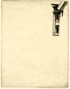 heracliteanfire: A corner of the Palazzo Venezia, Rome. Sir Muirhead Bone, 1914. (via British Museum)