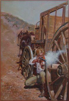 Bill Peet, Pulp Magazine, Weird Science, Pulp Art, Western Art, Old West, Book Illustration, Westerns, Horror