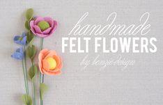 Felt Flower Tutorial (Benzie: A fanfare of felt. Handmade Felt, Handmade Flowers, Diy Flowers, Fabric Flowers, Paper Flowers, Flower Diy, Felt Flowers Patterns, Felt Flower Tutorial, Rose Tutorial