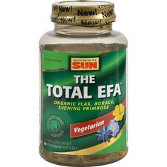 Health From the Sun The Total EFA - 90 Vegetarian Softgels - Health From the Sun The Total EFA Description: 100% Vegetarian Flax * Borage * Evening Primrose Made with Organic Oils The Total EFA 100% Vegetarian Softgels offer comprehensive and convenient omega 3-6-9 nutrition without animal-based gelatin or the need to measure or refrigerate liquid. Made with certified organic flax, borage and evening primrose oils, The Total EFA 100% Vegetarian softgels contain the most potent Essential…