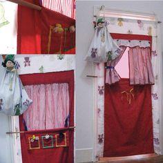 Puppet theatre, doorway theatre.  Christmas 2012