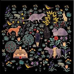 CFA Voysey, The House that Jack Built, black background The William Morris Tile adaptations of the House that Jack Built are registered with the US Copyright office. You are free to use them for non-commercial purposes.