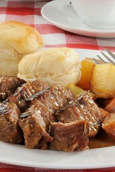 Awesome Slow Cooker Pot Roast Recipe - Super Easy and only 4 Ingredients!