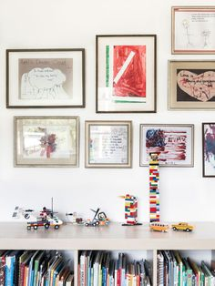 Frame your kiddos art work for an easy playroom gallery wall. KATE VESPA || design & style