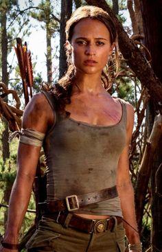Alicia Vikander as Lara Croft.