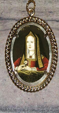 Queen Elizabeth of York Frame Pendant by FunckLoveDesigns