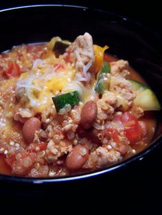delicious quinoa taco soup...wow, this is protein packed!
