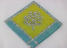 Vintage Floral Handkerchief, Flower Girl Handkerchief, Something Old, Hankie Vintage, Keepsake Hanky, Vintage Wedding, Mothers Day Gift by SecondActShop on Etsy