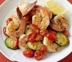 Shrimp with Zucchini and Tomatoes - Weight Watchers 2 SmartPoints, This is not bad, I added extra zucchini and rice, Z