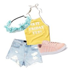 Spring outfit by supaaaawomen on Polyvore featuring polyvore, moda, style, Hollister Co., Alexander Wang, adidas, Full Tilt, fashion and clothing