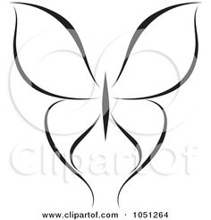 Butterfly Clip Art   ... Clip Art Illustration of a Black And White Butterfly Logo - 15 by