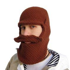 e42762c4c29 Amazon.com  Beard Hat - BeardHead Knit Beanies - Lumberjack Brown  Clothing