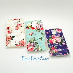 Samsung Galaxy S5 HTC One M8 2014 floral vintage by BeanBeanCase, $6.99