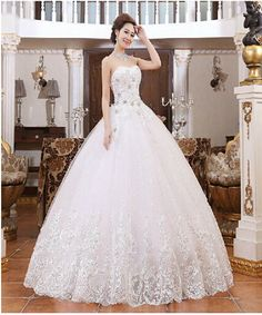 Find More Wedding Dresses Information about 2015 new hot sale luxury sexy backless elegant beach sweetheart lace plus size white beading wedding dress. 2016 Wedding Dresses, Luxury Wedding Dress, White Wedding Dresses, Cheap Wedding Dress, Wedding Dress Styles, Gown Wedding, Wedding Dinner, Suzhou, Wedding Dress Cathedral Train