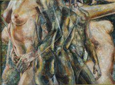 Nudi compenetranti - 60x80 - olio su tela
