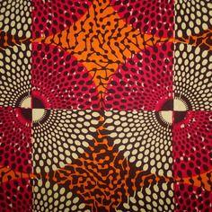 Tissu africain, en petit coupon wax  ,45 cm x 55 cm