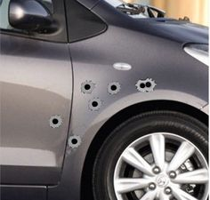 Bullethole Sticker Graphic For Car