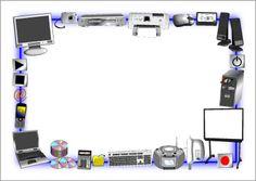 ICT A4 page borders (SB2165) - SparkleBox