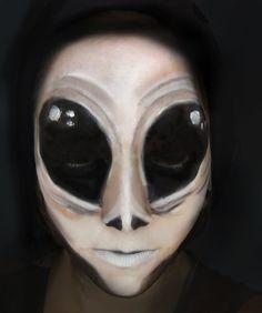 Alien Halloween Scary Makeup Tutorial   Primp Powder Pout #Halloweenmakeup…
